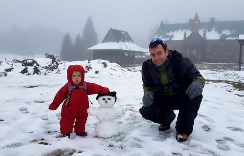 První pořádný sněhulák